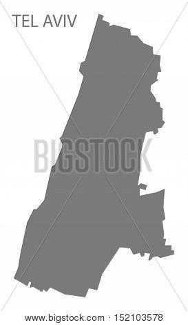 Tel Aviv Israel Map grey illustration high res
