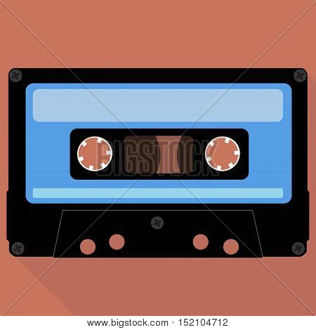 image of an old music compact cassettes. flat design