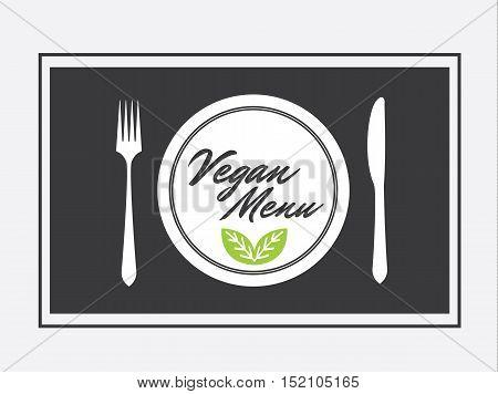 Vegan Menu Design Graphic Vector Illustration Flat Stock - Vegan Menu Food Bio - Vegan Food -