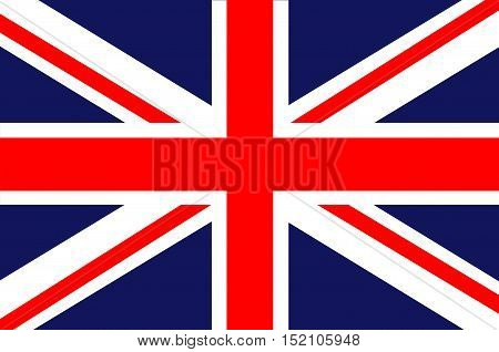 Flag of Great Britain. Union Jack. Vector