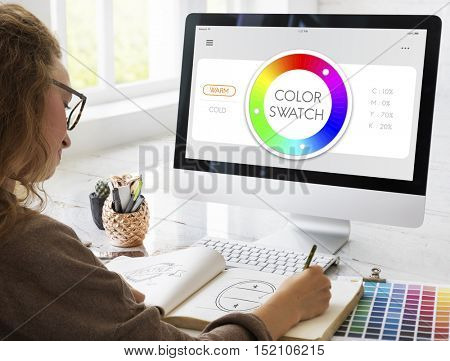 Color Swatch CMYK Design Spectrum Sample Concept