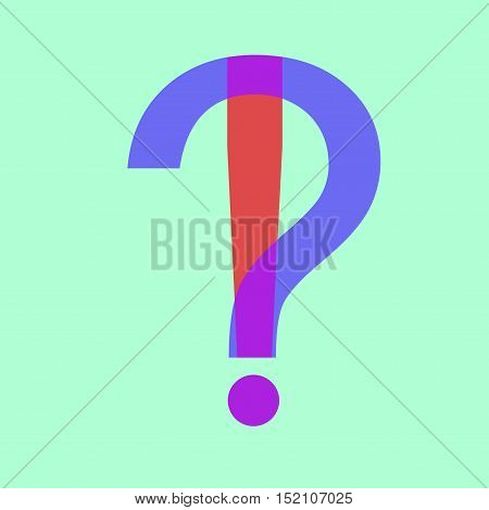 Questions Flat Design Icon Isolated