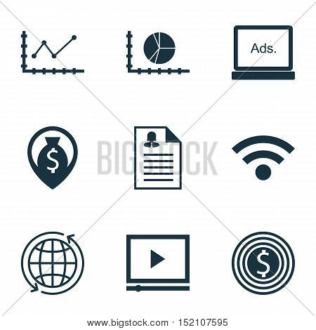 Set Of 9 Universal Editable Icons For Airport, Human Resources And Computer Hardware Topics. Include