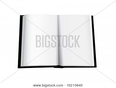 opened vector book isolated on white