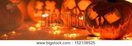 Pumpkins are symbol of happy halloween tradition