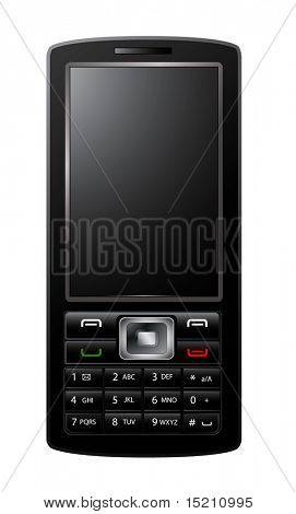 vector mobile phone isolated on white