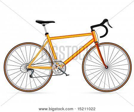 Racing Road Vector Vector Yellow Race Road Bike