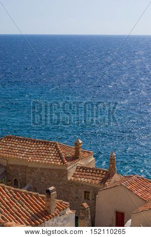 Byzantine town of Monemvasia, Greece