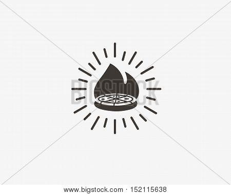 Pizza logo design. Pizzeria vector label, badge, logotype. Italian food court hipster creative sign symbol