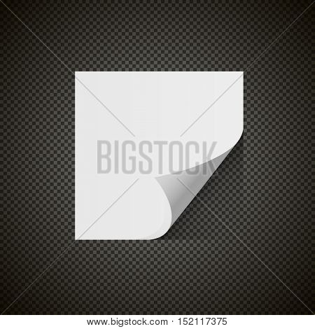 scratch note paper isolated with shadow on transparent background