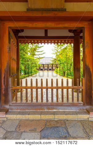 Toshodai-ji Temple Entrance Doorway Path Nara V