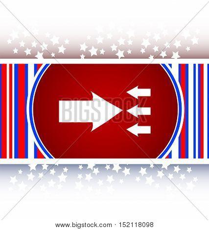 white arrow icon on red flat web button