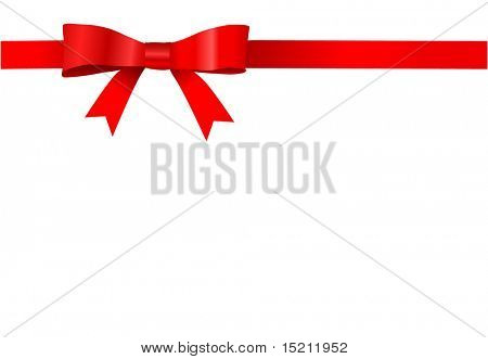 vector red bow design