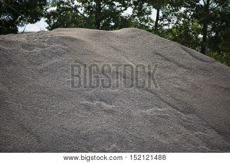 pile of sand grains ready for construction
