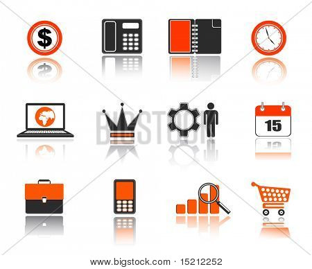 business icons set for web