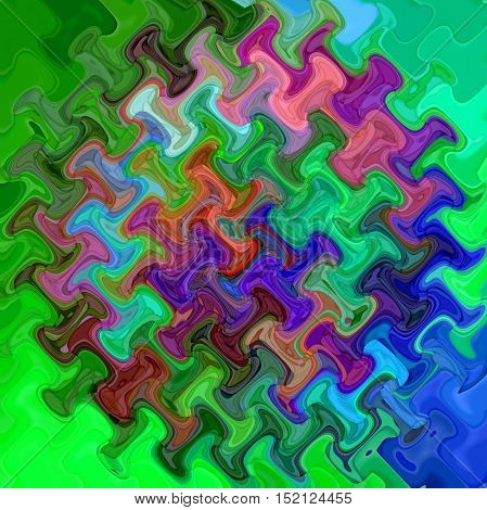 Abstract coloring background of the abstract gradient with visual mosaic, cubism,poolar coordinates and wave effects