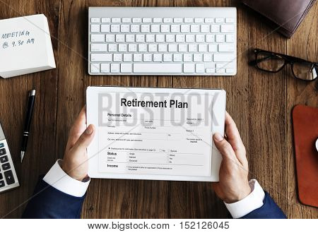 Retirement Plan Loan Liability Tax Form Concept