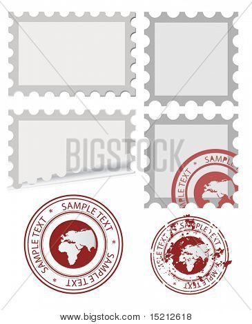 vector post stamp template