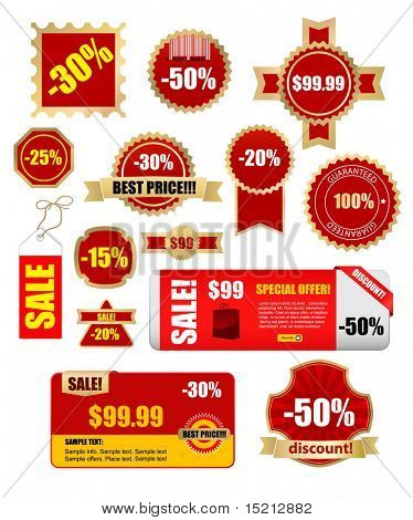 sale labels and banners - vector set