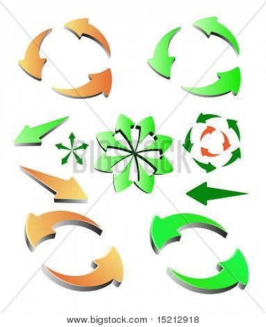 vector colored arrows 3d