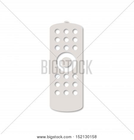 Simple Remote control icon on white background