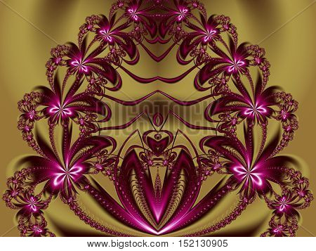 Flower fractal pattern. You can use it for invitations notebook covers phone cases postcards cards ceramics carpets and so on. Artwork for creative design art and entertainment.