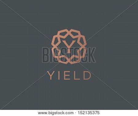 Premium letter Y logo icon vector design. Luxury jewelry frame gem edge logotype. Print monogram initials stamp sign symbol