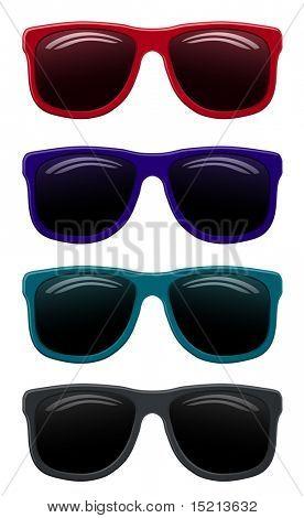 vector de gafas de sol color