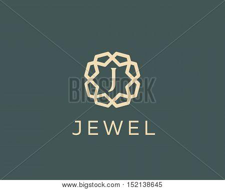 Premium letter J logo icon vector design. Luxury jewelry frame gem edge logotype. Print monogram initials stamp sign symbol