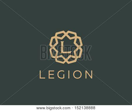 Premium letter L logo icon vector design. Luxury jewelry frame gem edge logotype. Print monogram initials stamp sign symbol