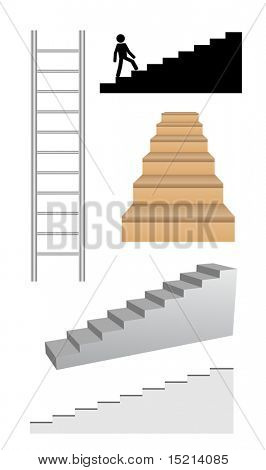 escalera set - vector