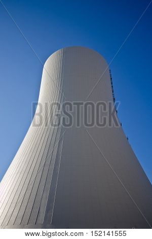 Cooling tower of nuclear power plant in Novovoronezh