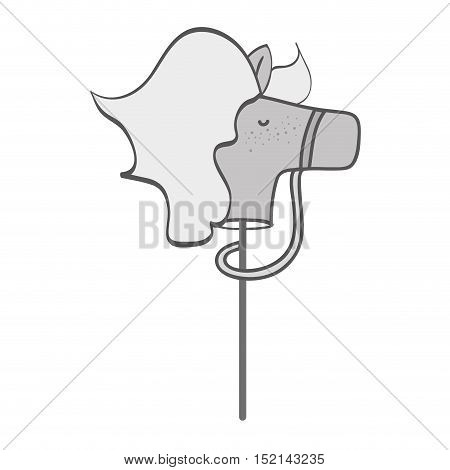 cute horse toy over white background. vector illustration