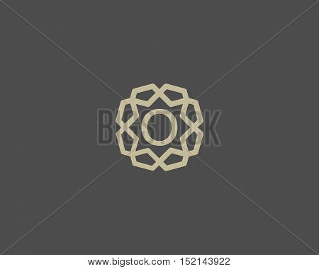 Premium number 0 logo icon vector design. Luxury jewelry frame gem edge logotype. Print figure stamp sign symbol