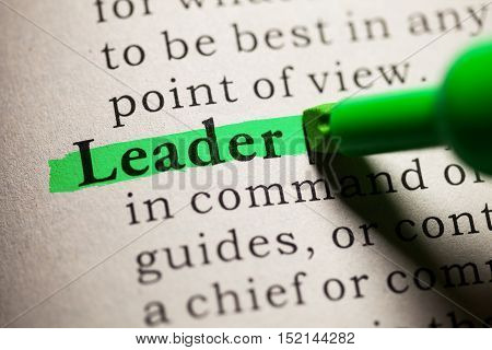 Fake Dictionary definition of the word leader.