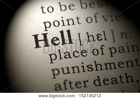 Fake Dictionary Dictionary definition of the word hell.