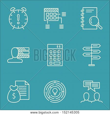 Set Of Project Management Icons On Innovation, Schedule And Opportunity Topics. Editable Vector Illu