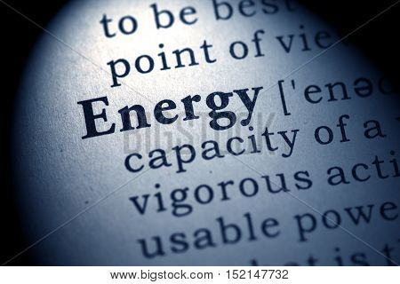 Fake Dictionary Dictionary definition of the word energy.