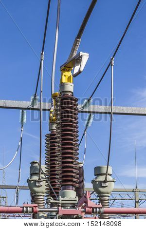 transformer for wind energy at a power plant station