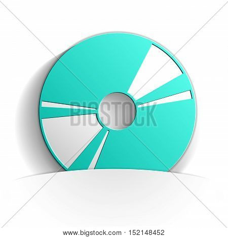 cd icon in paper style full vector