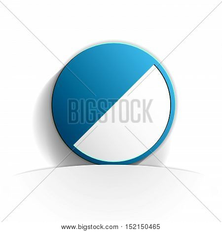 contrast icon in paper style full vector