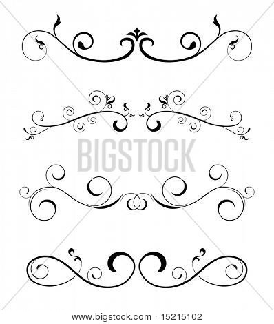 floral borders - design elements