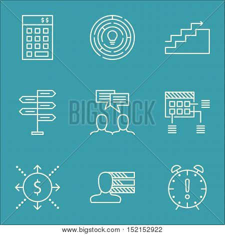 Set Of Project Management Icons On Growth, Investment And Personal Skills Topics. Editable Vector Il