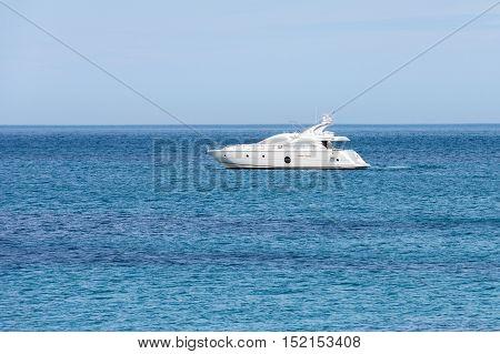 image of a motor yacht at sea