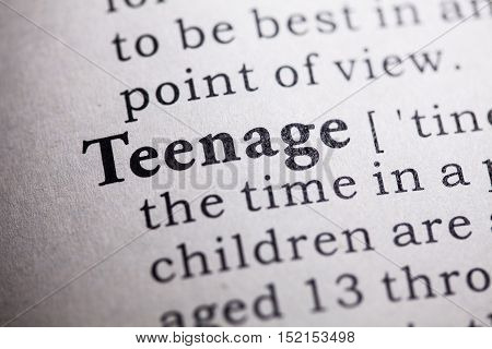 Fake Dictionary Dictionary definition of the word teenage.