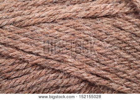 A close up image of textured yarn