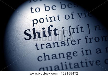 Fake Dictionary Dictionary definition of the word shift.