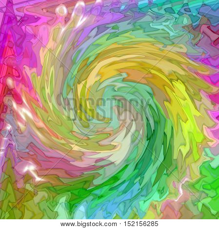 Abstract coloring background of the color harmonies gradient with visual mosaic,spherize,wave and twirl effects