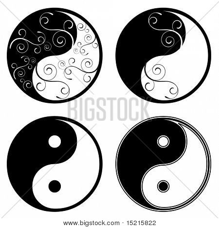 ying yang floral symbol