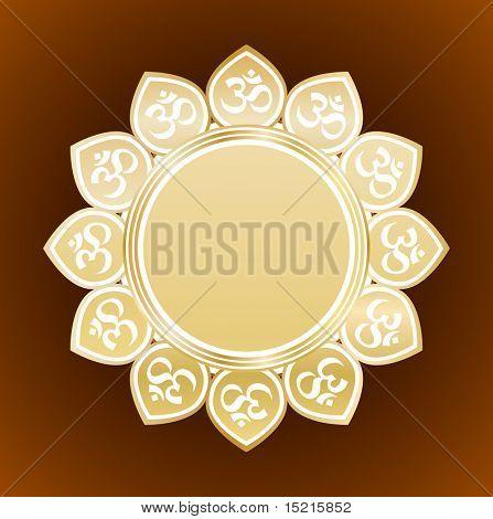 ontwerp met bloemen met om symbool